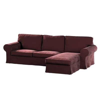 Pokrowiec na sofę Ektorp 2-osobową i leżankę w kolekcji Velvet, tkanina: 704-26