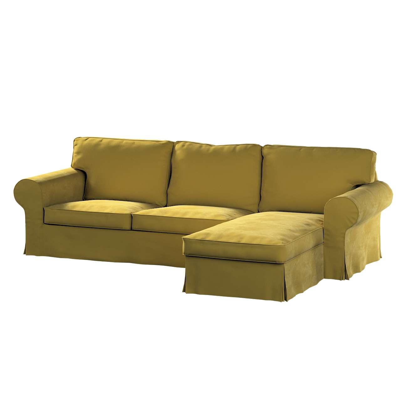 Pokrowiec na sofę Ektorp 2-osobową i leżankę w kolekcji Velvet, tkanina: 704-27