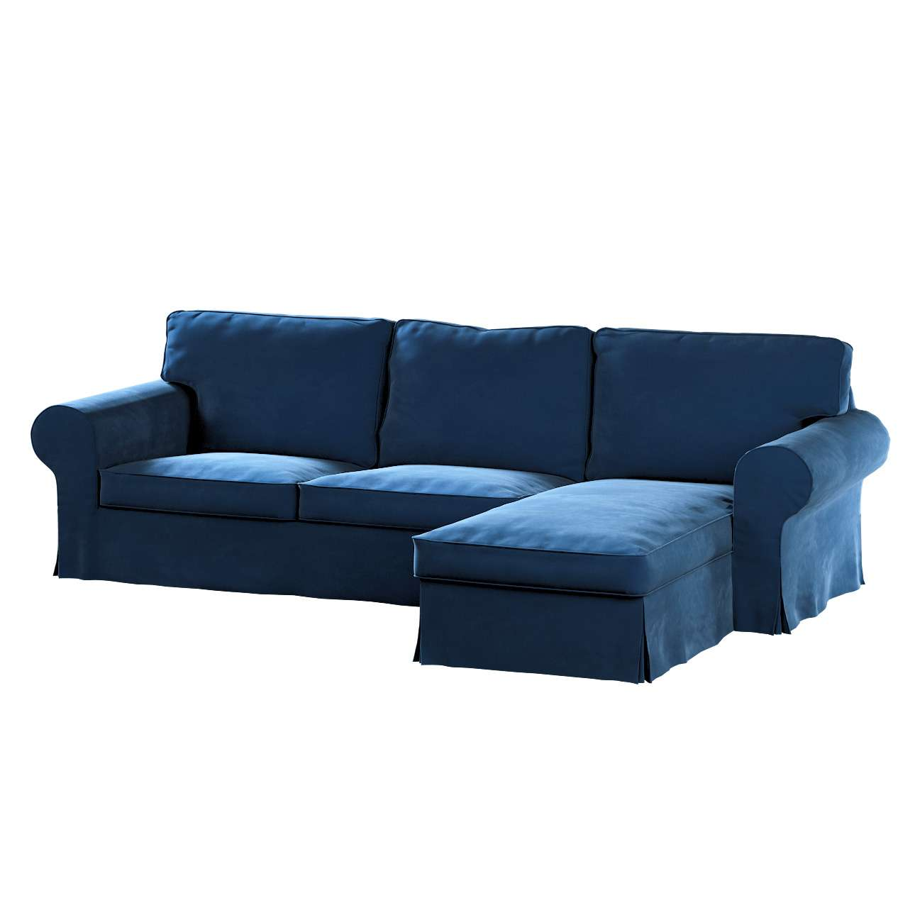 Pokrowiec na sofę Ektorp 2-osobową i leżankę w kolekcji Velvet, tkanina: 704-29