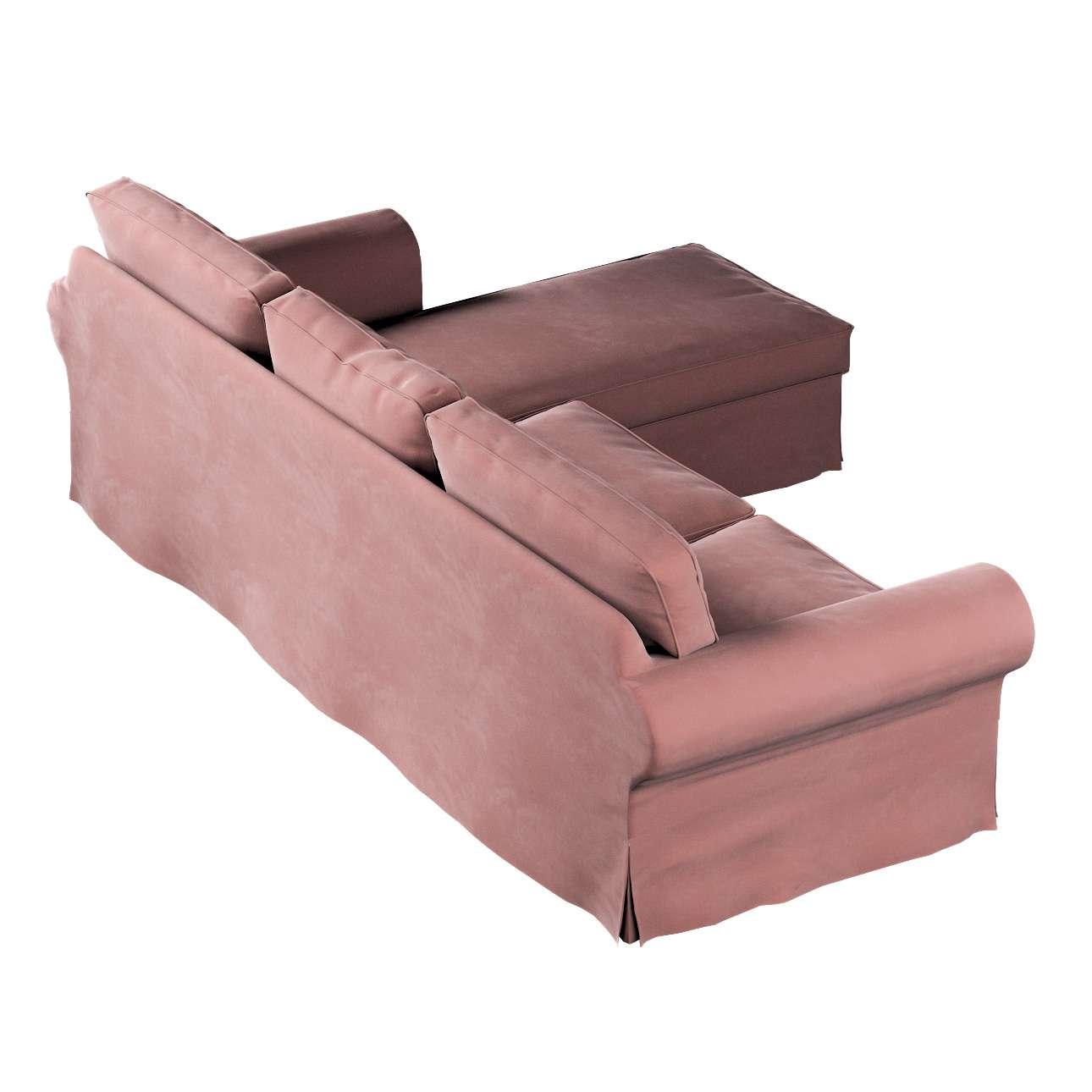 Pokrowiec na sofę Ektorp 2-osobową i leżankę w kolekcji Velvet, tkanina: 704-30