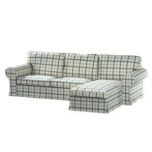 Pokrowiec na sofę Ektorp 2-osobową i leżankę sofa ektorp 2-os. i leżanka w kolekcji Avinon, tkanina: 131-66