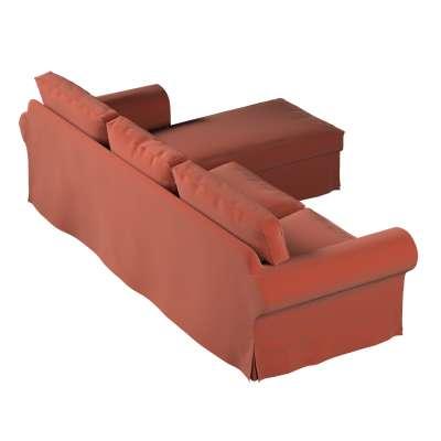 Pokrowiec na sofę Ektorp 2-osobową i leżankę w kolekcji Ingrid, tkanina: 705-37