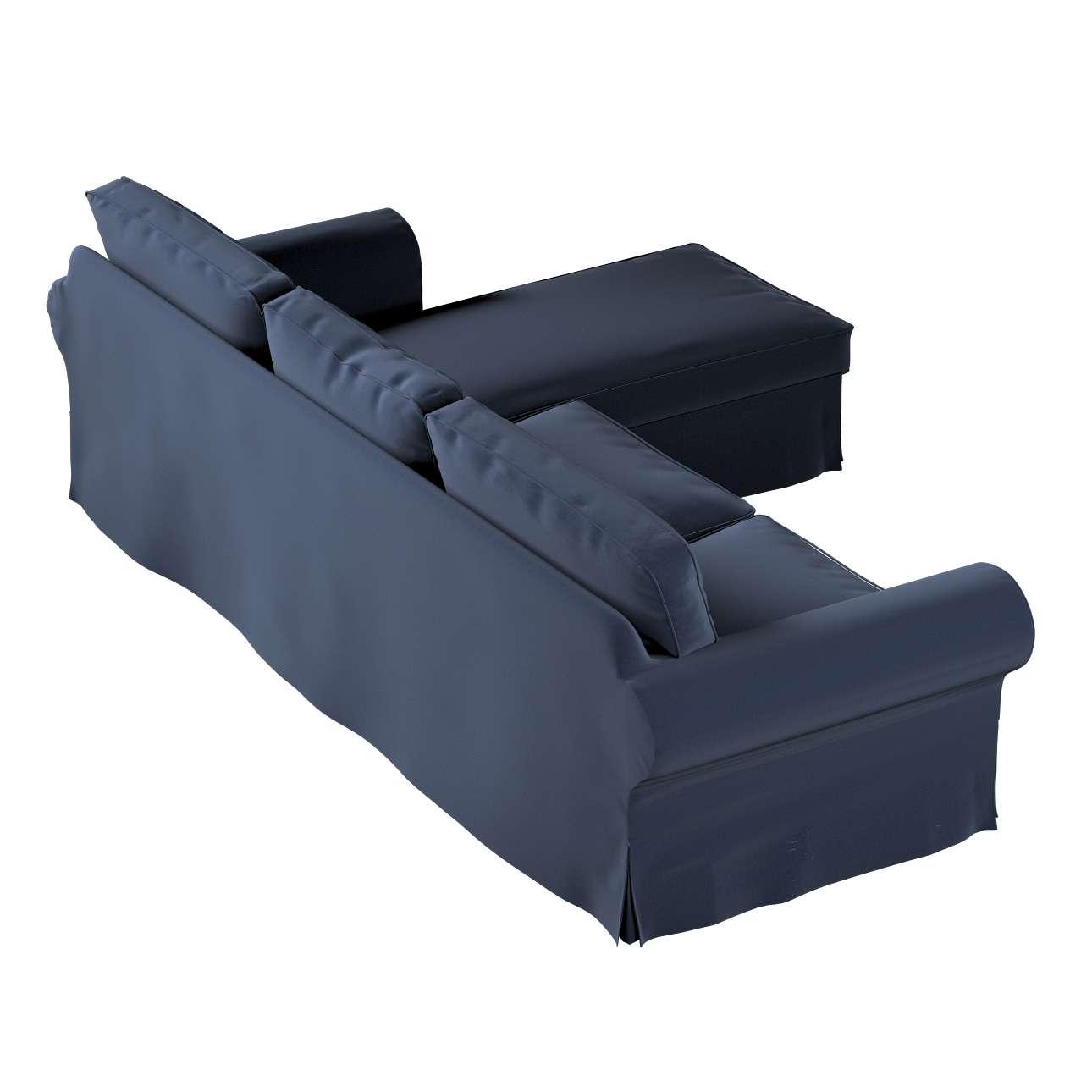 Pokrowiec na sofę Ektorp 2-osobową i leżankę w kolekcji Ingrid, tkanina: 705-39