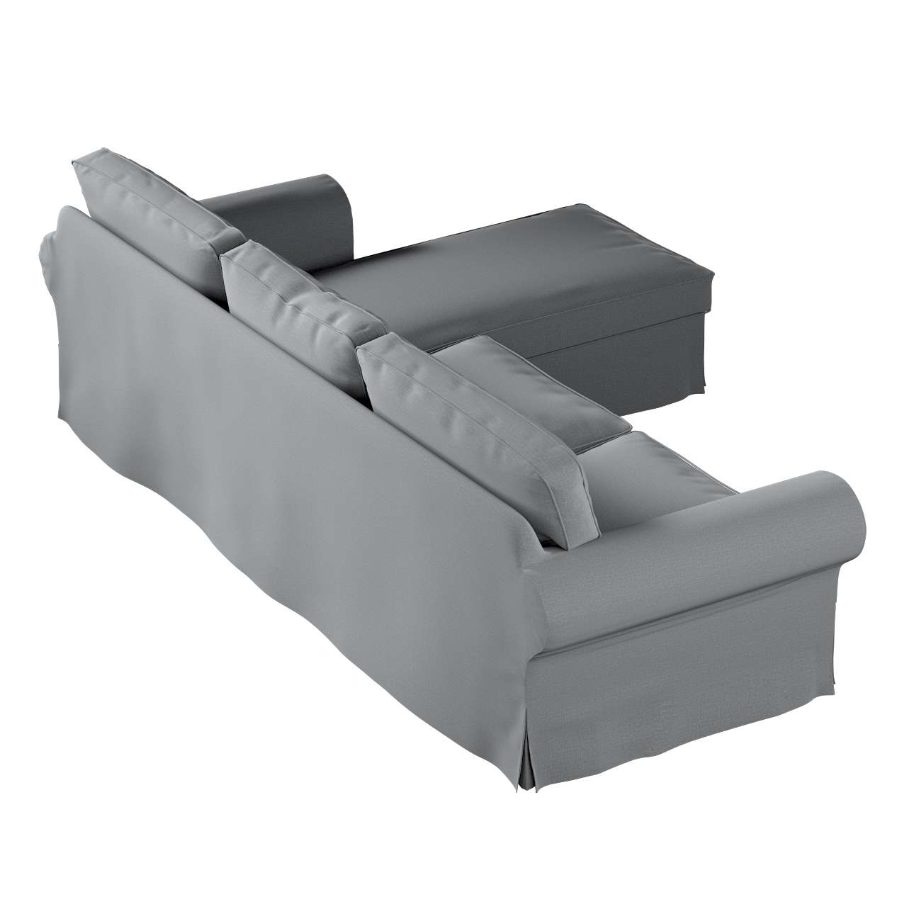 Pokrowiec na sofę Ektorp 2-osobową i leżankę w kolekcji Ingrid, tkanina: 705-42
