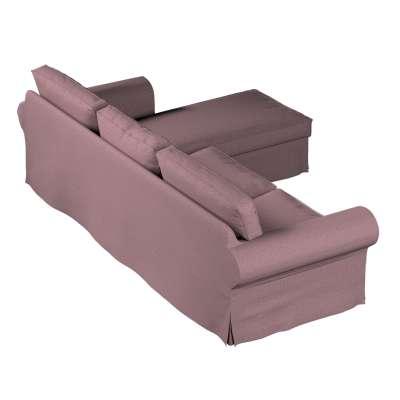 Pokrowiec na sofę Ektorp 2-osobową i leżankę w kolekcji Amsterdam, tkanina: 704-48