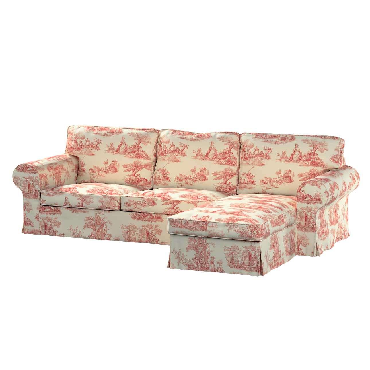 Potah na pohovku IKEA Ektorp 2-místná se šezlongem sofa ektorp 2-0s. i leżanka v kolekci Avignon, látka: 132-15
