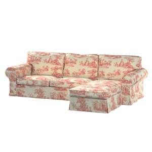 Ektorp dvivietės sofos su gulimuoju krėslu užvalkalas Ikea Ektorp dvivietės sofos su gulimuoju krėslu užvalkalas kolekcijoje Avinon, audinys: 132-15