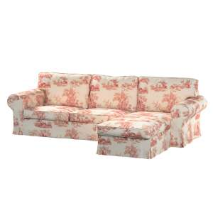 Pokrowiec na sofę Ektorp 2-osobową i leżankę sofa ektorp 2-os. i leżanka w kolekcji Avinon, tkanina: 132-15