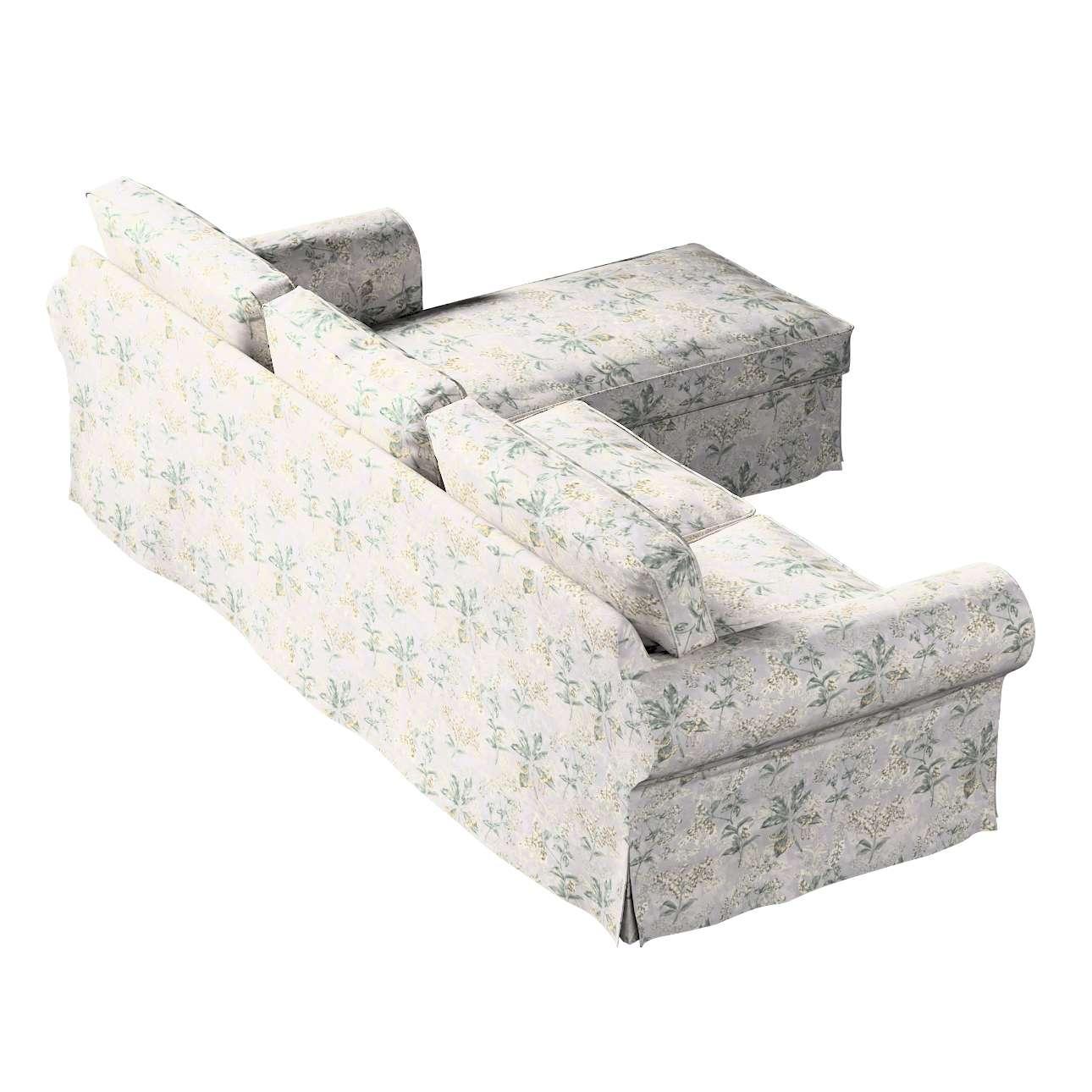 Pokrowiec na sofę Ektorp 2-osobową i leżankę w kolekcji Londres, tkanina: 143-37