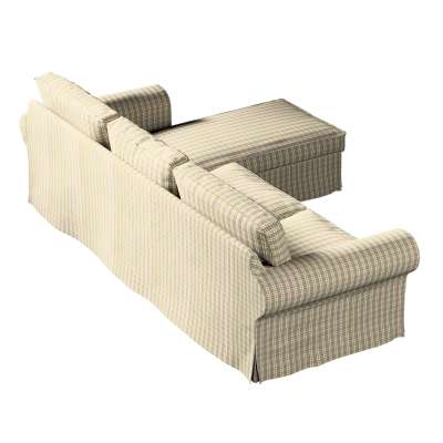 Pokrowiec na sofę Ektorp 2-osobową i leżankę w kolekcji Londres, tkanina: 143-39