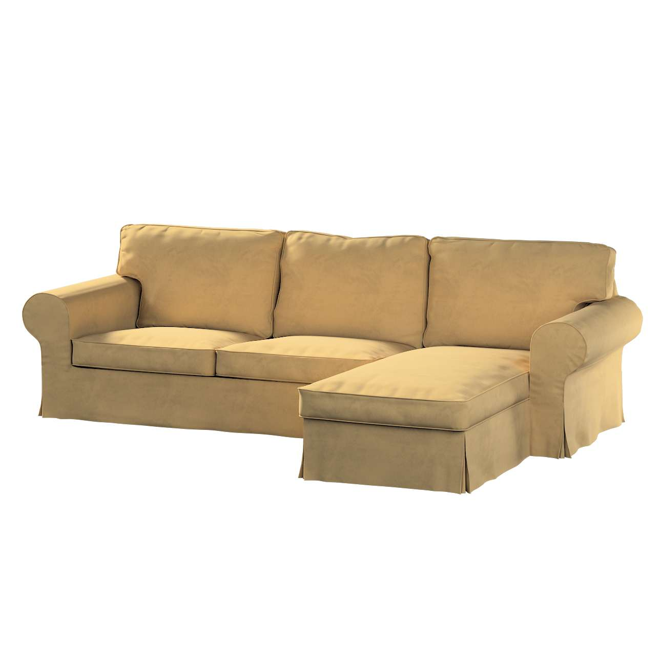 Pokrowiec na sofę Ektorp 2-osobową i leżankę w kolekcji Living, tkanina: 160-93
