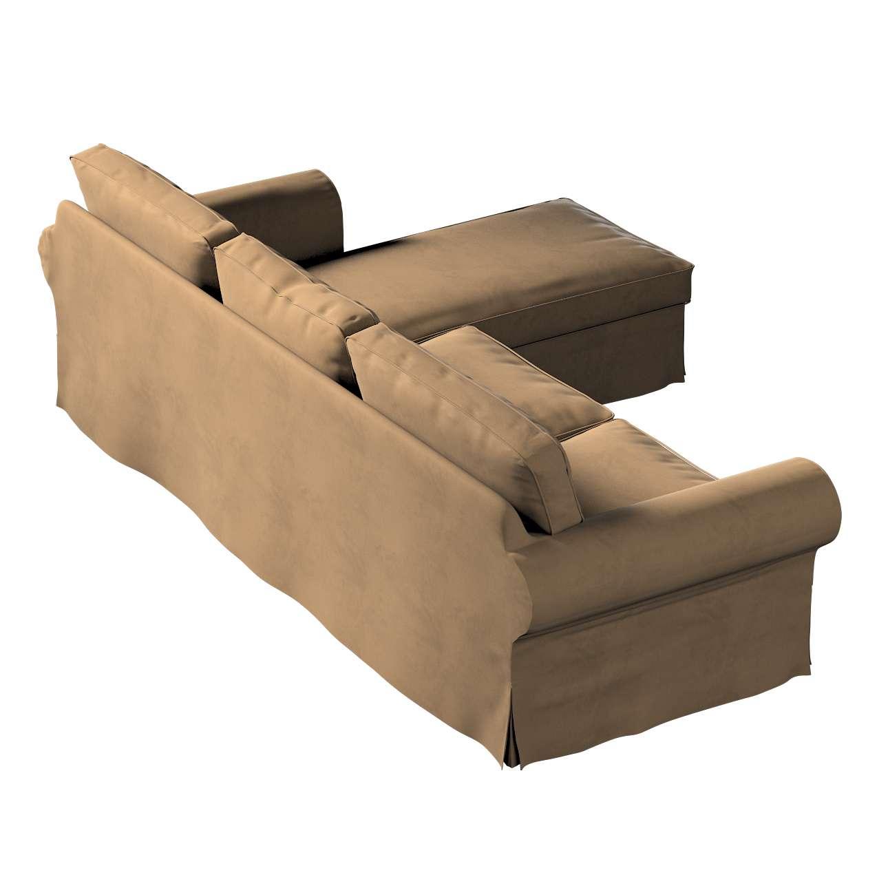 Pokrowiec na sofę Ektorp 2-osobową i leżankę w kolekcji Living II, tkanina: 160-94