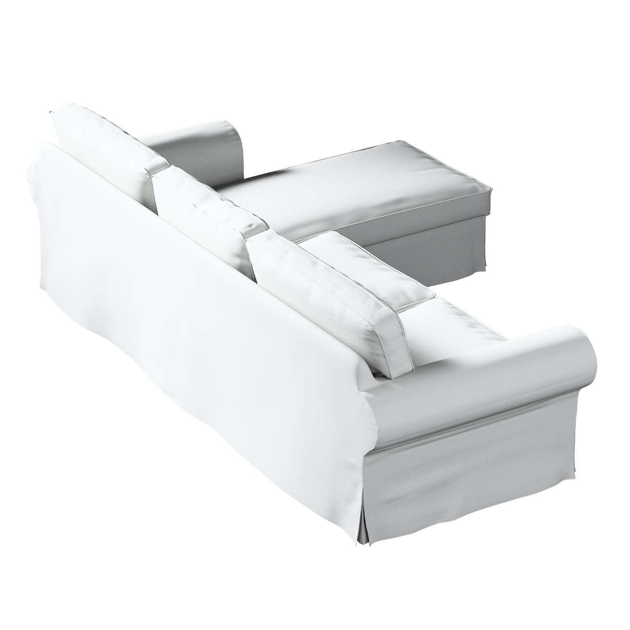 Pokrowiec na sofę Ektorp 2-osobową i leżankę w kolekcji Living, tkanina: 161-18