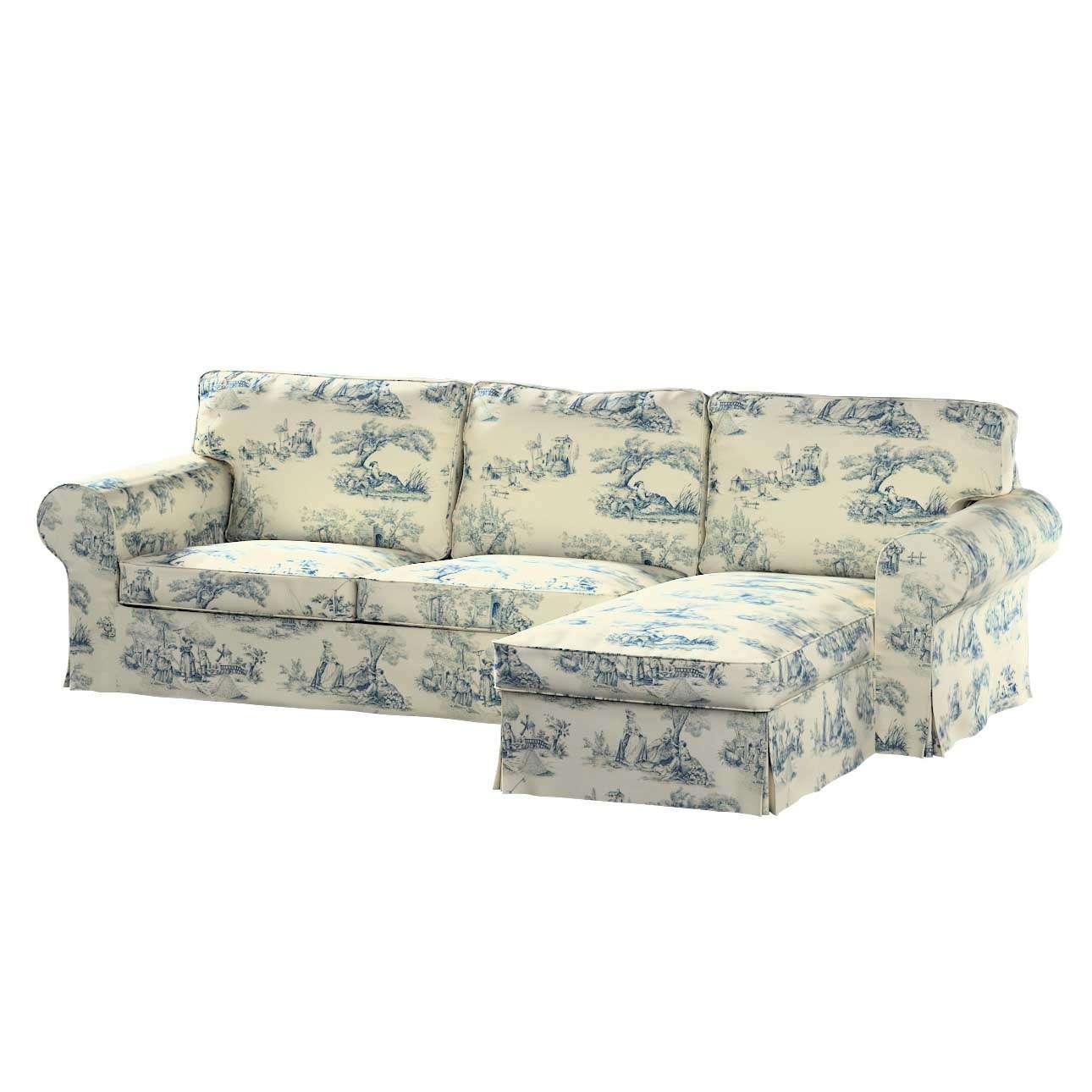 Potah na pohovku IKEA Ektorp 2-místná se šezlongem sofa ektorp 2-0s. i leżanka v kolekci Avignon, látka: 132-66
