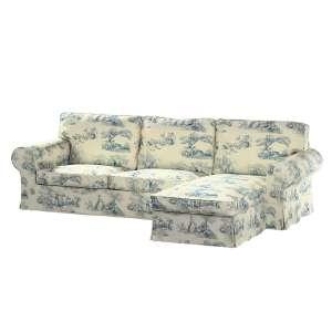 Ektorp dvivietės sofos su gulimuoju krėslu užvalkalas Ikea Ektorp dvivietės sofos su gulimuoju krėslu užvalkalas kolekcijoje Avinon, audinys: 132-66