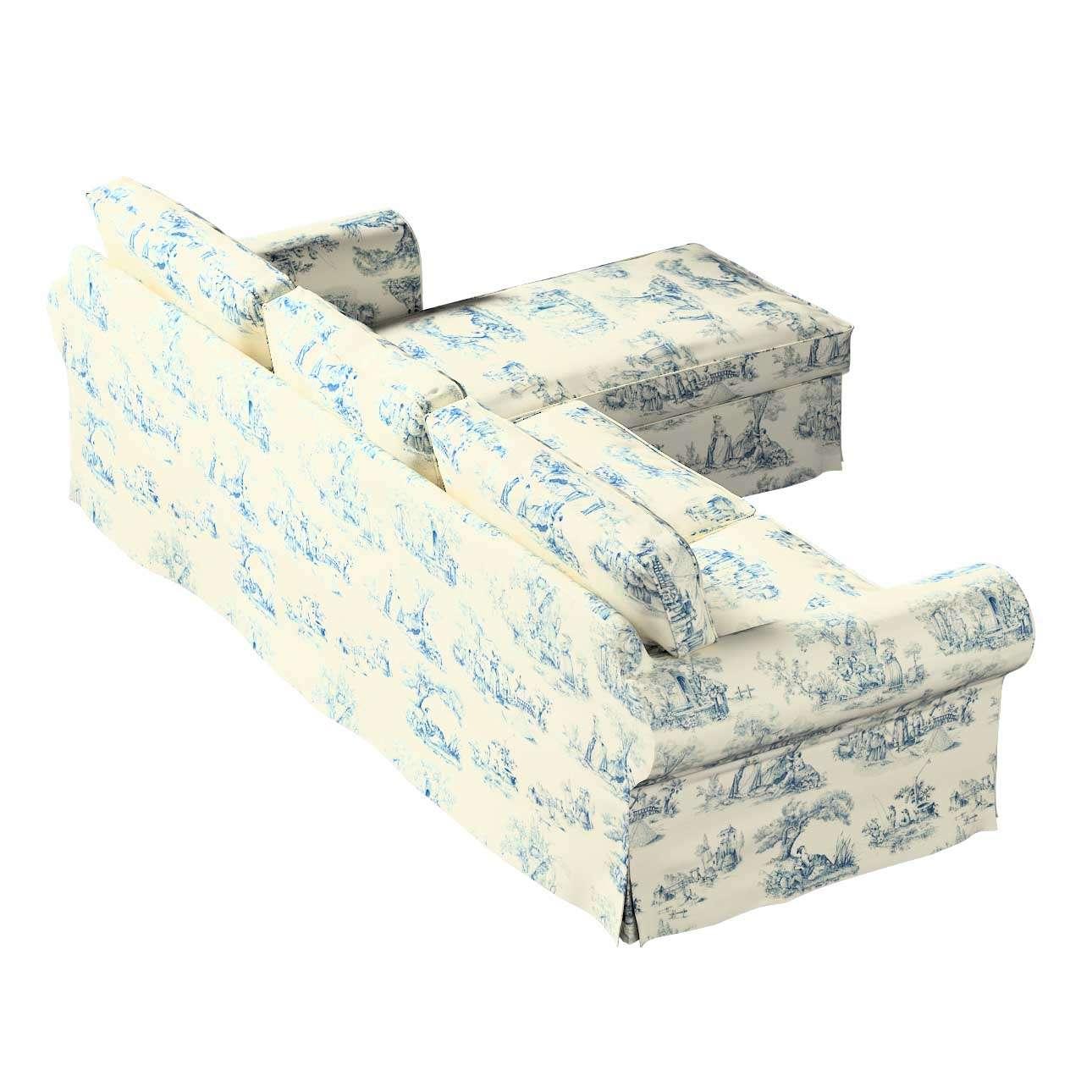 Pokrowiec na sofę Ektorp 2-osobową i leżankę sofa ektorp 2-os. i leżanka w kolekcji Avinon, tkanina: 132-66