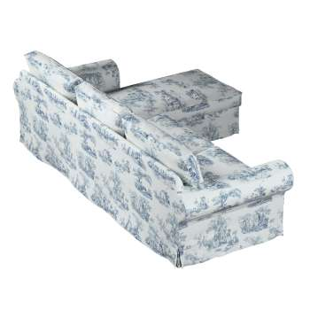 Pokrowiec na sofę Ektorp 2-osobową i leżankę w kolekcji Avinon, tkanina: 132-66