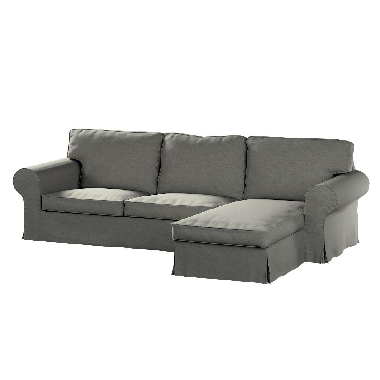 Pokrowiec na sofę Ektorp 2-osobową i leżankę w kolekcji Etna, tkanina: 161-25