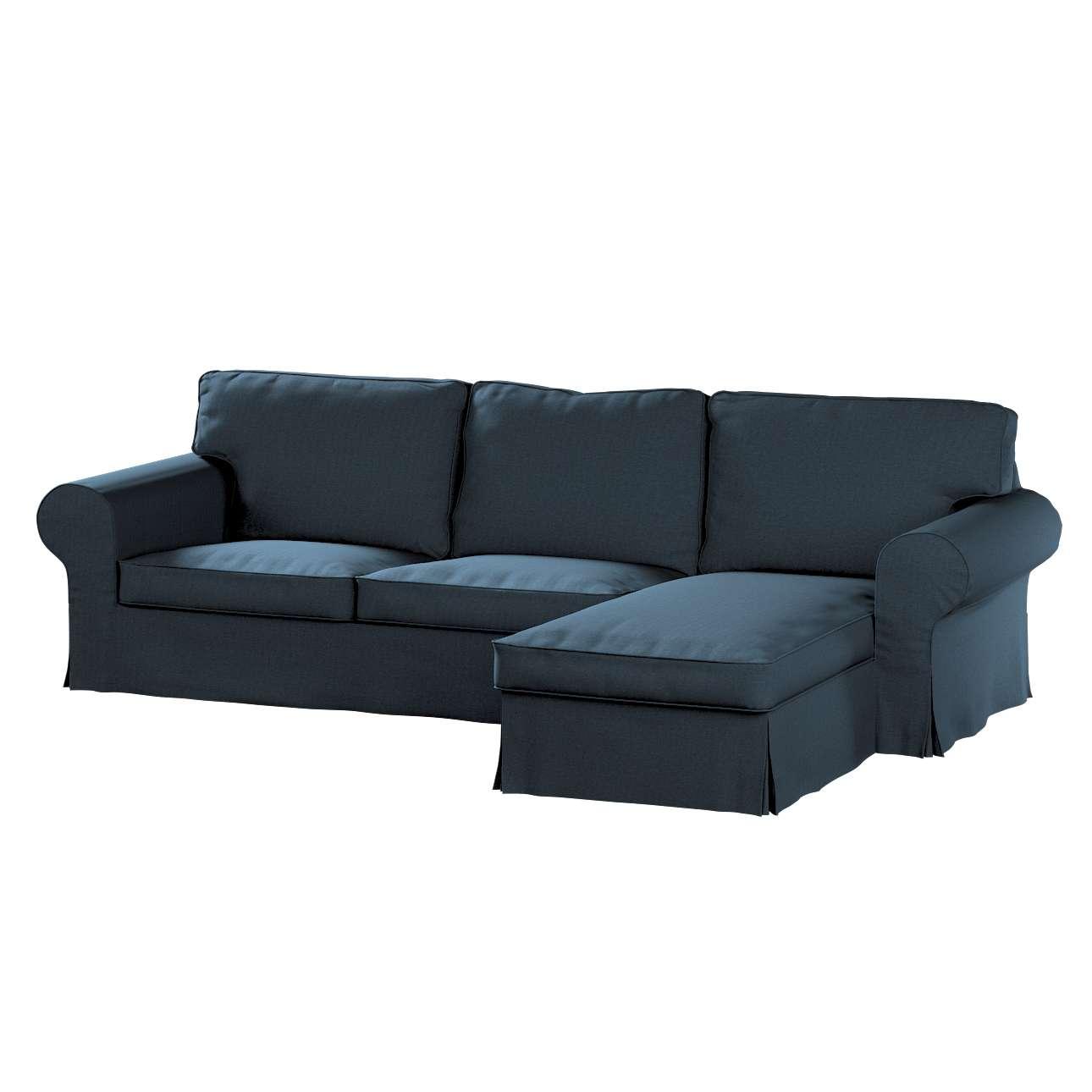 Pokrowiec na sofę Ektorp 2-osobową i leżankę w kolekcji Etna, tkanina: 705-30