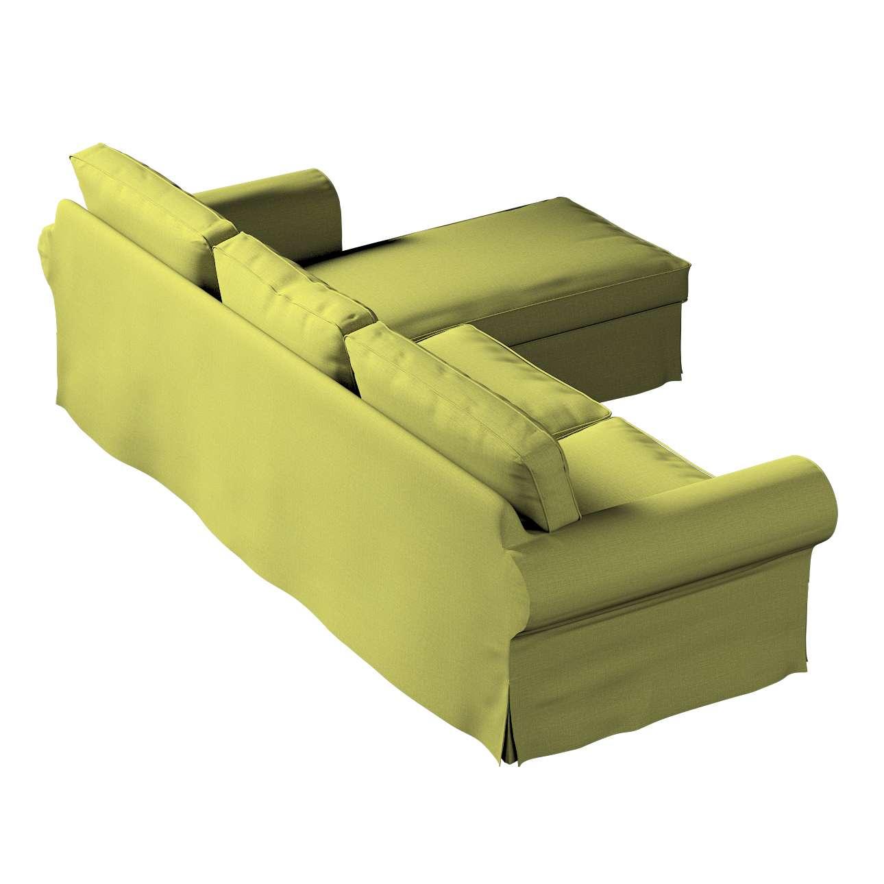 Pokrowiec na sofę Ektorp 2-osobową i leżankę w kolekcji Living II, tkanina: 161-13