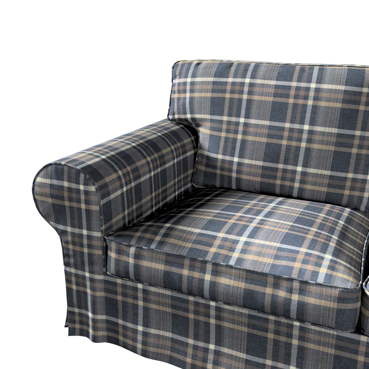 Pokrowiec na sofę Ektorp 2-osobową i leżankę w kolekcji Edinburgh, tkanina: 703-16