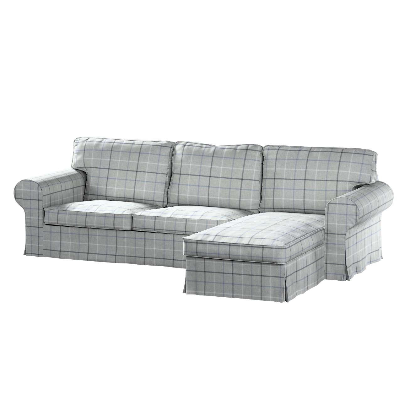 Pokrowiec na sofę Ektorp 2-osobową i leżankę w kolekcji Edinburgh, tkanina: 703-18
