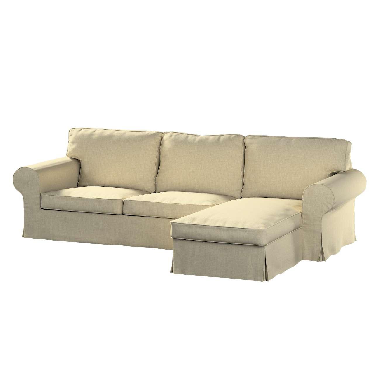 Pokrowiec na sofę Ektorp 2-osobową i leżankę w kolekcji Living, tkanina: 161-45
