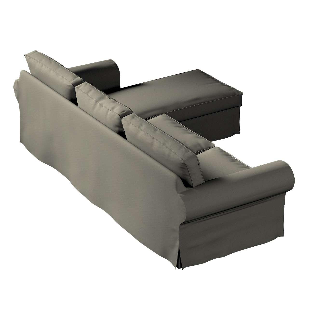 Pokrowiec na sofę Ektorp 2-osobową i leżankę w kolekcji Living, tkanina: 161-55