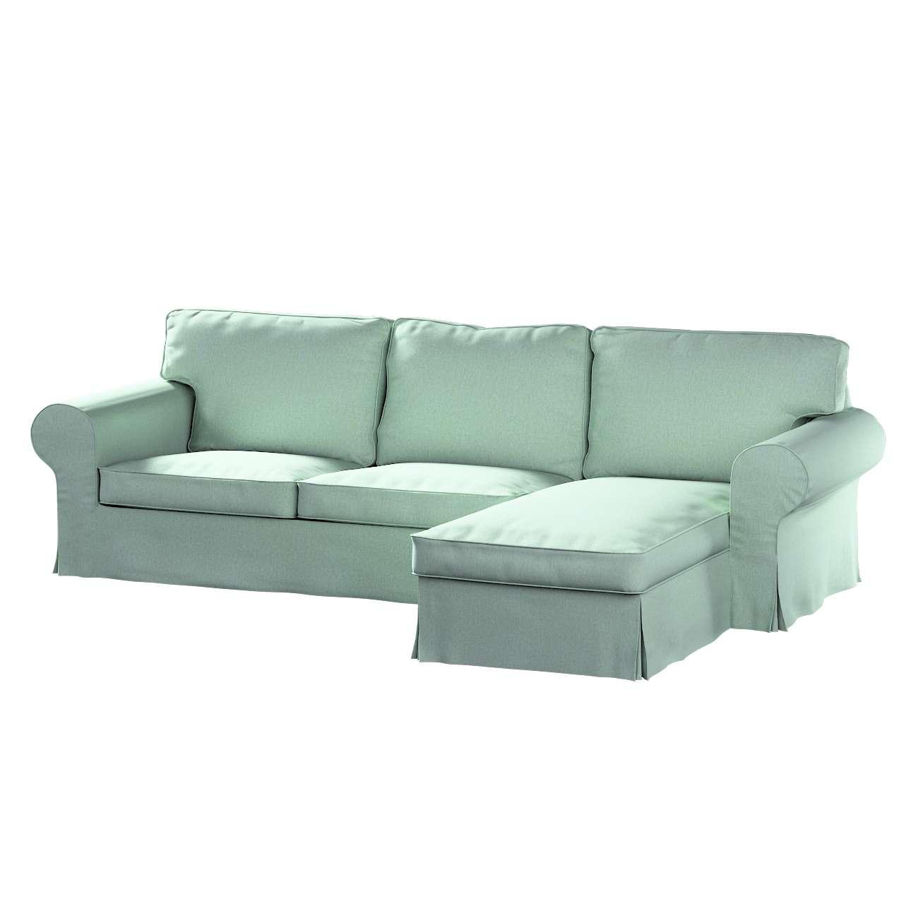 Pokrowiec na sofę Ektorp 2-osobową i leżankę w kolekcji Living, tkanina: 161-61