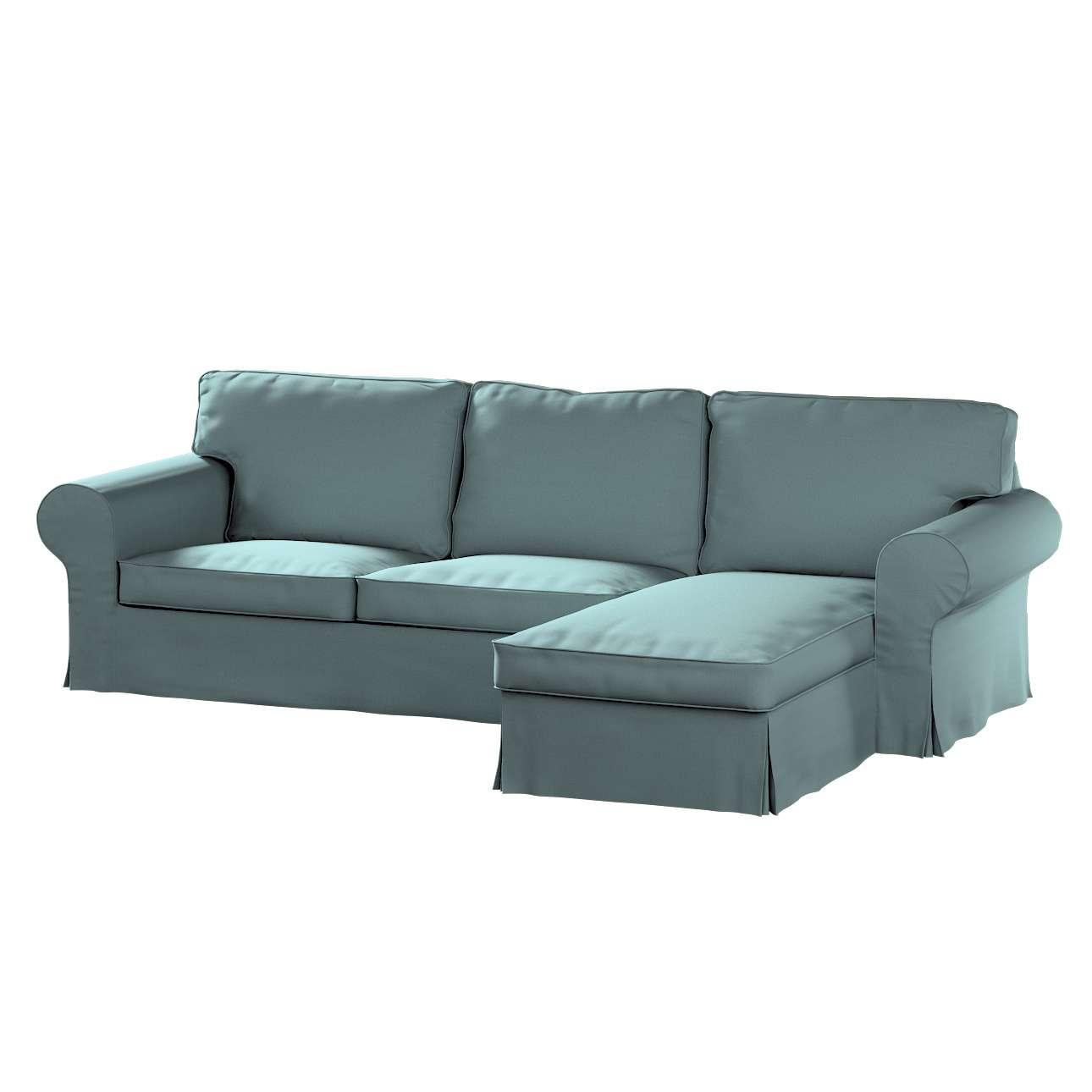 Pokrowiec na sofę Ektorp 2-osobową i leżankę w kolekcji Cotton Panama, tkanina: 702-40