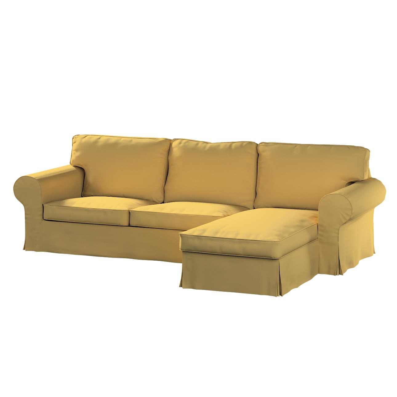 Pokrowiec na sofę Ektorp 2-osobową i leżankę w kolekcji Cotton Panama, tkanina: 702-41