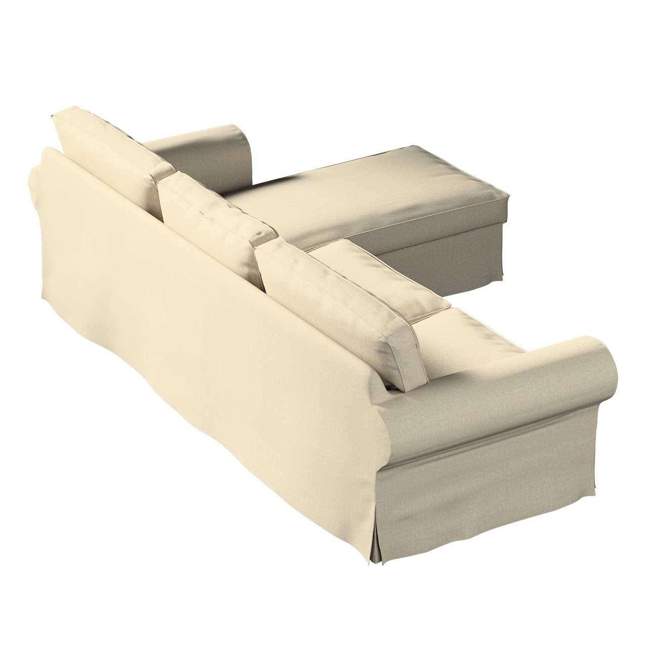 Pokrowiec na sofę Ektorp 2-osobową i leżankę w kolekcji City, tkanina: 704-80