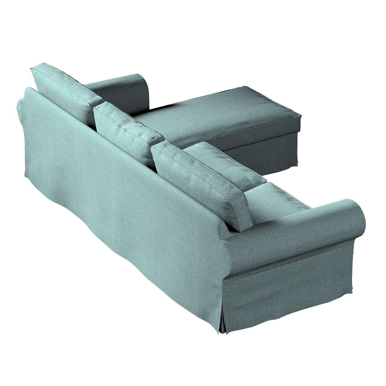 Pokrowiec na sofę Ektorp 2-osobową i leżankę w kolekcji City, tkanina: 704-85