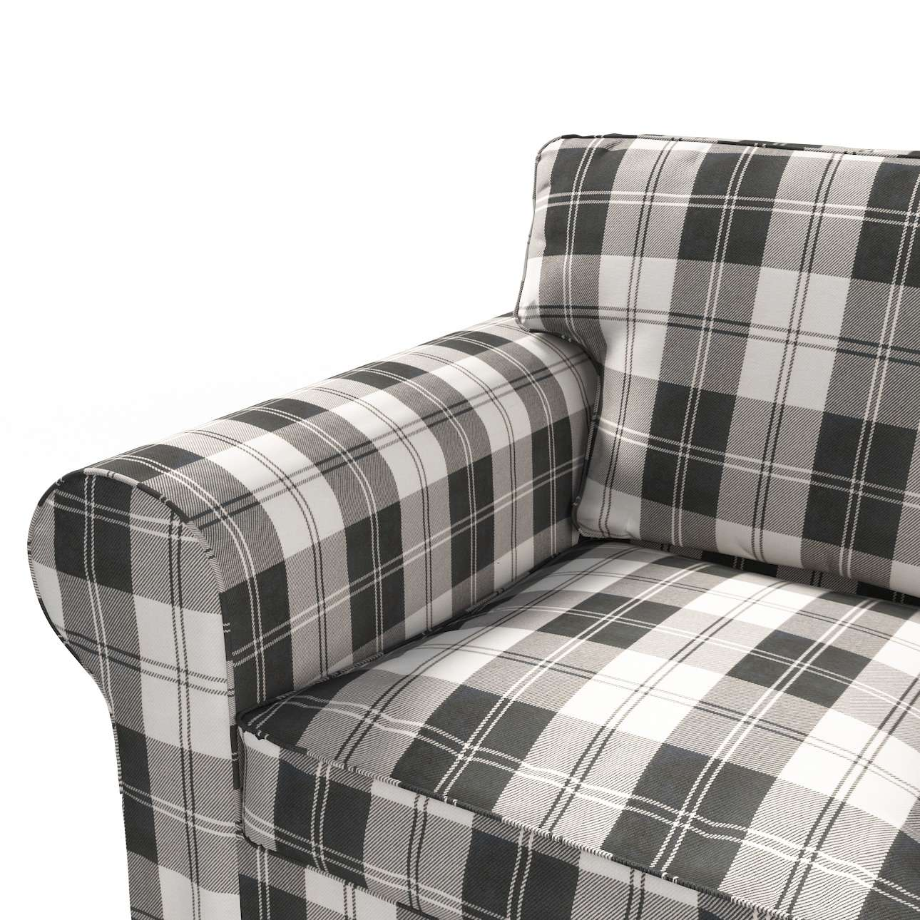 Pokrowiec na sofę Ektorp 2-osobową rozkładana NOWY MODEL 2012 sofa ektorp 2-osobowa rozkładana NOWY MODEL w kolekcji Edinburgh, tkanina: 115-74