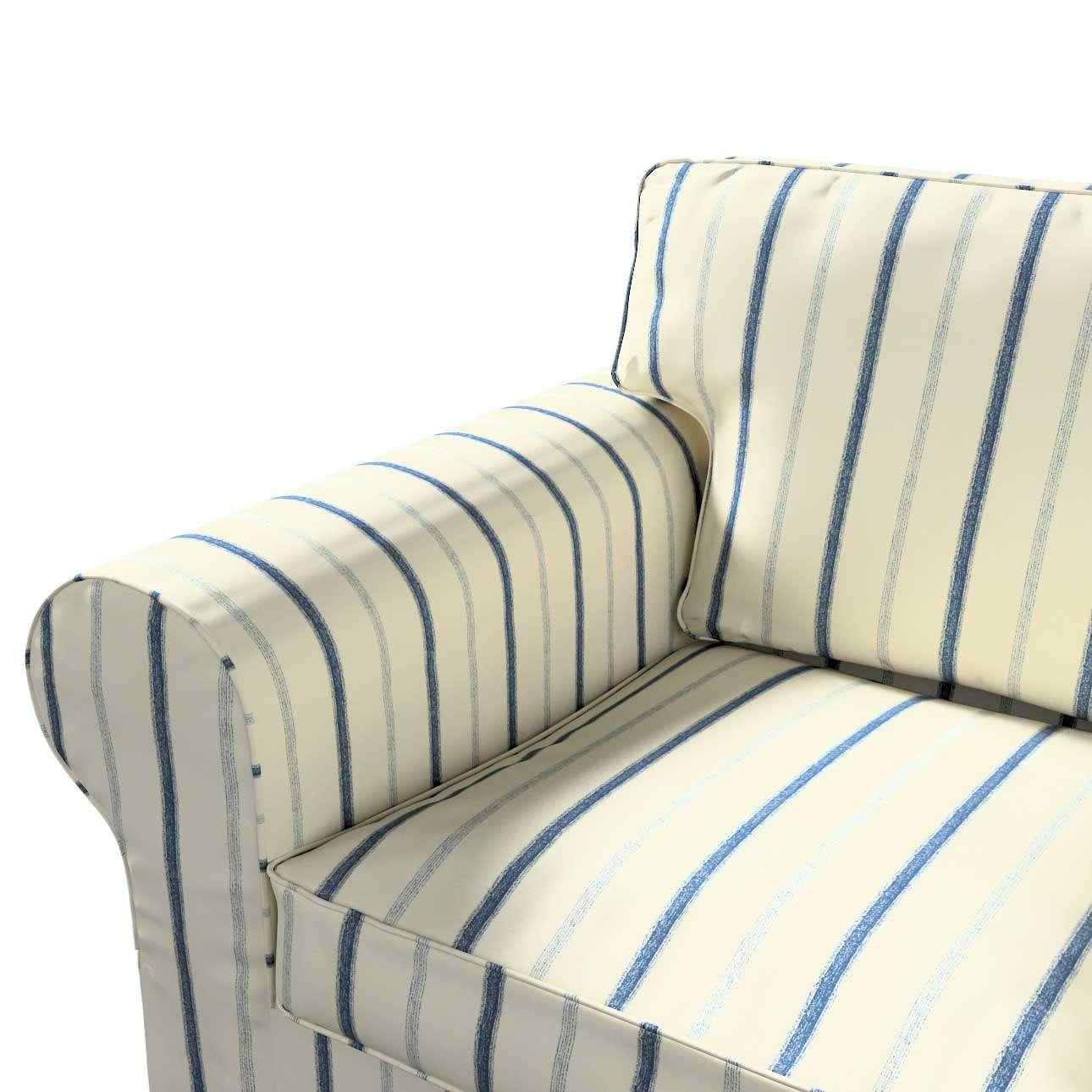 Ektorp 2 sæder sovesofa fra 2012<br/>Bredde ca 200cm Betræk uden sofa fra kollektionen Avinon, Stof: 129-66