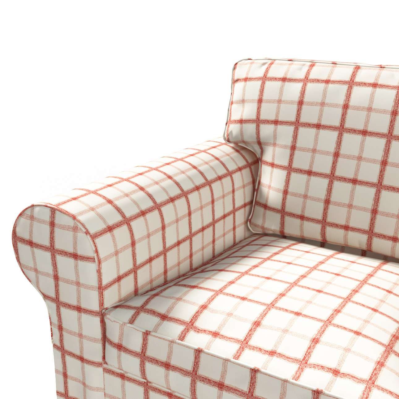 Ektorp 2 sæder sovesofa fra 2012<br/>Bredde ca 200cm Betræk uden sofa fra kollektionen Avinon, Stof: 131-15