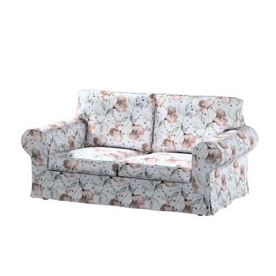 Ektorp 2-seater sofa bed cover (for model on sale in Ikea since 2012) 704-50 pink flowers on a cream background Collection Velvet