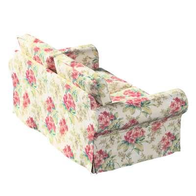 Bezug für Ektorp 2-Sitzer Schlafsofa NEUES Modell 143-40 rosa-grün-ecru Kollektion Londres