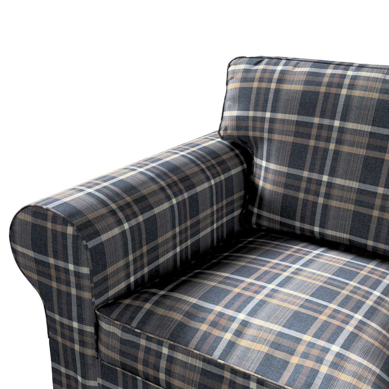 Pokrowiec na sofę Ektorp 2-osobową rozkładaną, model po 2012 w kolekcji Edinburgh, tkanina: 703-16