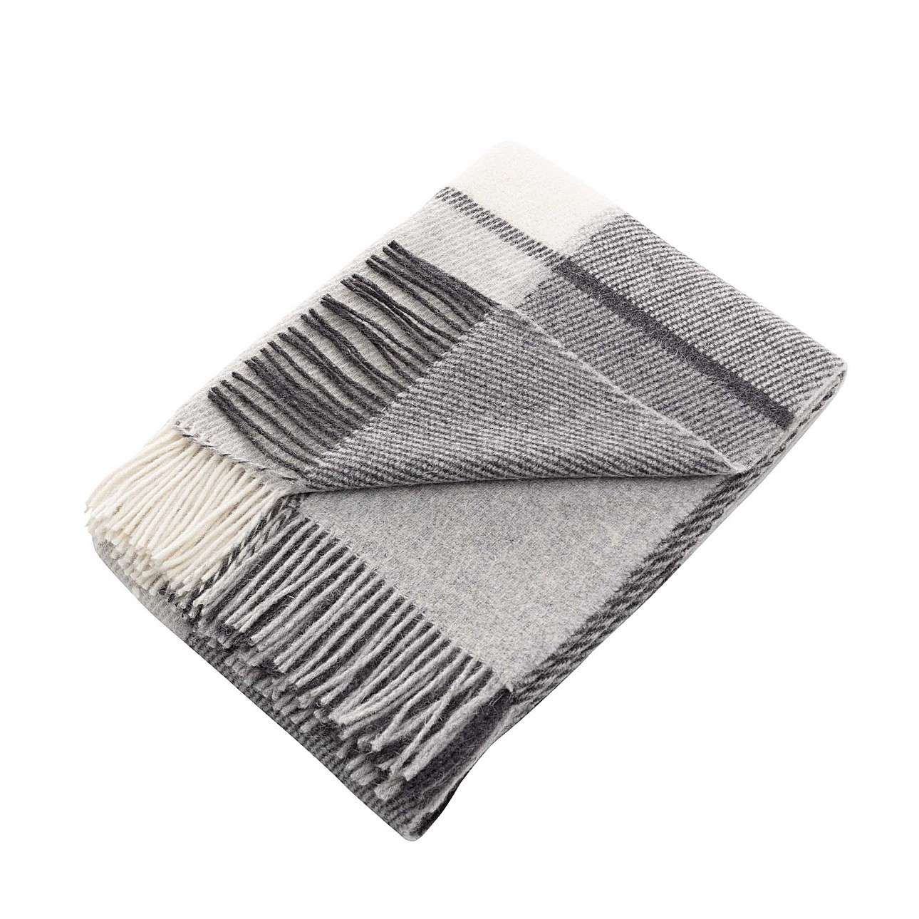 Pled Zelandia 140x200cm grey check