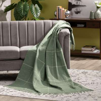 Plaid Seeland 140x200cm smoke green