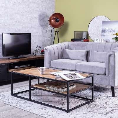 Salontafel Loft 120x65x41,5cm Industriële meubels - Dekoria.nl