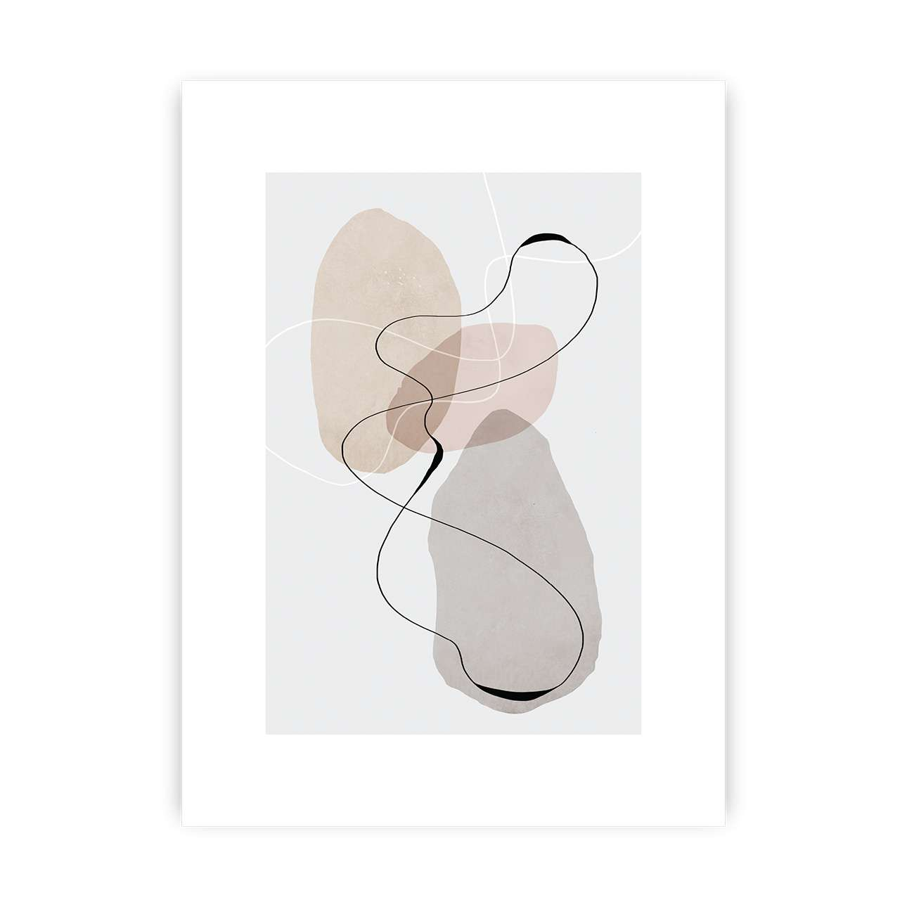 Poster Abstract Lines I
