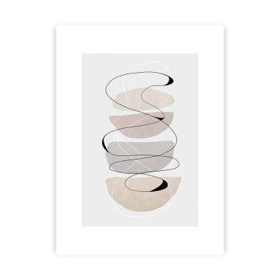 Abstract Lines II Print Home Furnishing & Decorations - Dekoria.co.uk