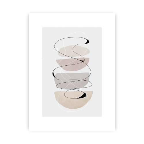 Abstract Lines II Print