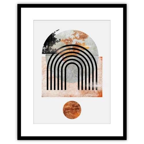 Canvas print Abstract I 40x50cm copper