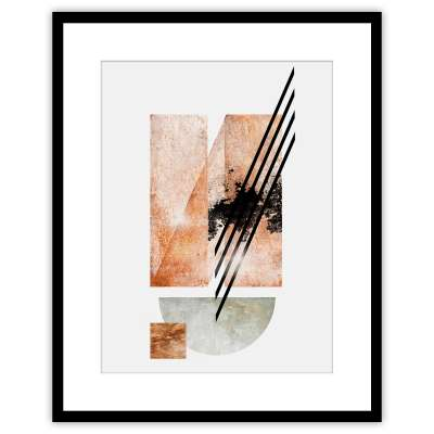 Bild Abstract II 40x50cm copper