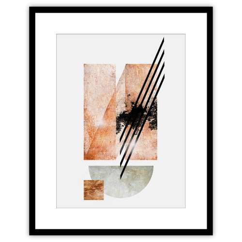 Poster Abstract II 40x50cm copper