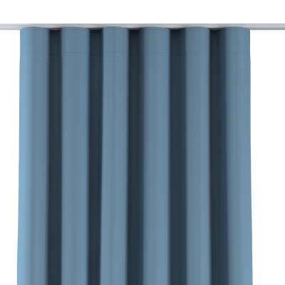 Zasłona na taśmie wave 269-08 niebieski Kolekcja Blackout - zaciemniające