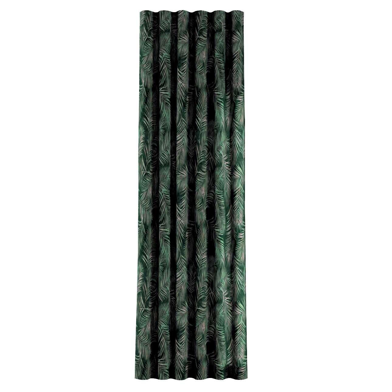 Zasłona na taśmie wave w kolekcji Velvet, tkanina: 704-21